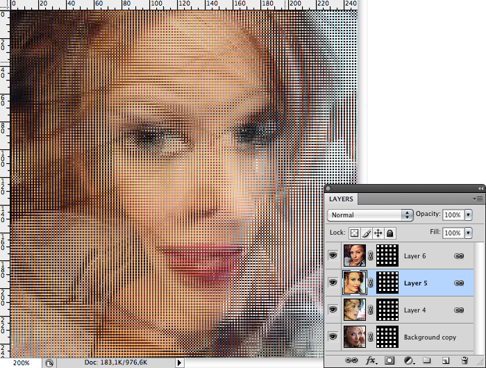 The making of Kylie in Photoshop